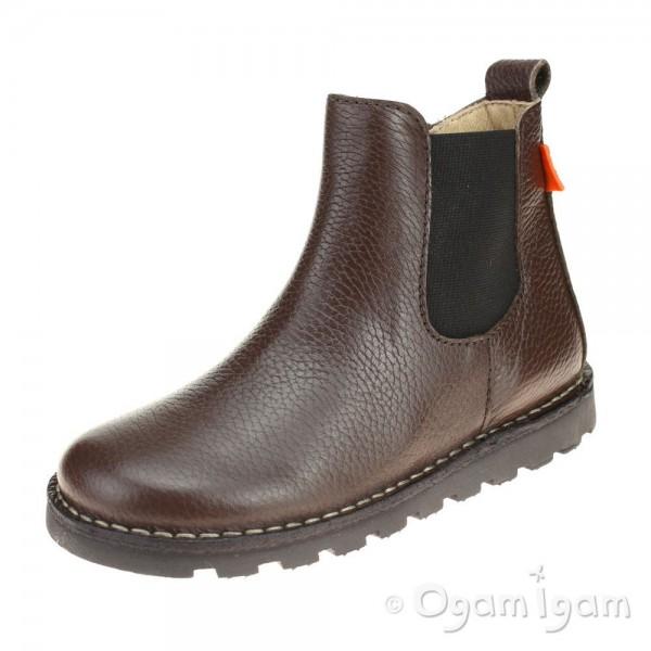 Petasil Kristen Boys Dark Brown Boot