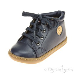 Shoo Pom Bouba Pad Lace Infant Boys Navy Boot