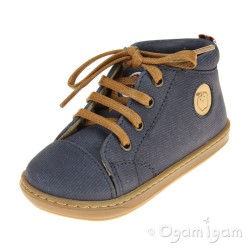 Shoo Pom Bouba Pad Lace Infant Boys Denim Blue Boot