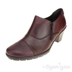 Rieker 5717335 Womens Bordeaux Heeled Ankle Boot