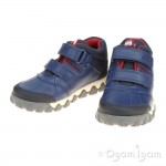 Clarks Tyrex Glo Inf Boys Blue Combi Boot