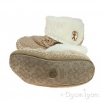 Bedroom Athletics Audrey Womens Gingerbread-Cream Slipper
