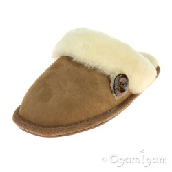 Bedroom Athletics Molly Womens Chestnut Sheepskin Slipper