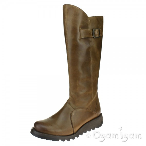 Fly London Mol 2 Womens Camel Brown Tall Boot