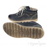 Josef Seibel Steffi Womens Blue Waterproof Warm-lined Ankle Boot