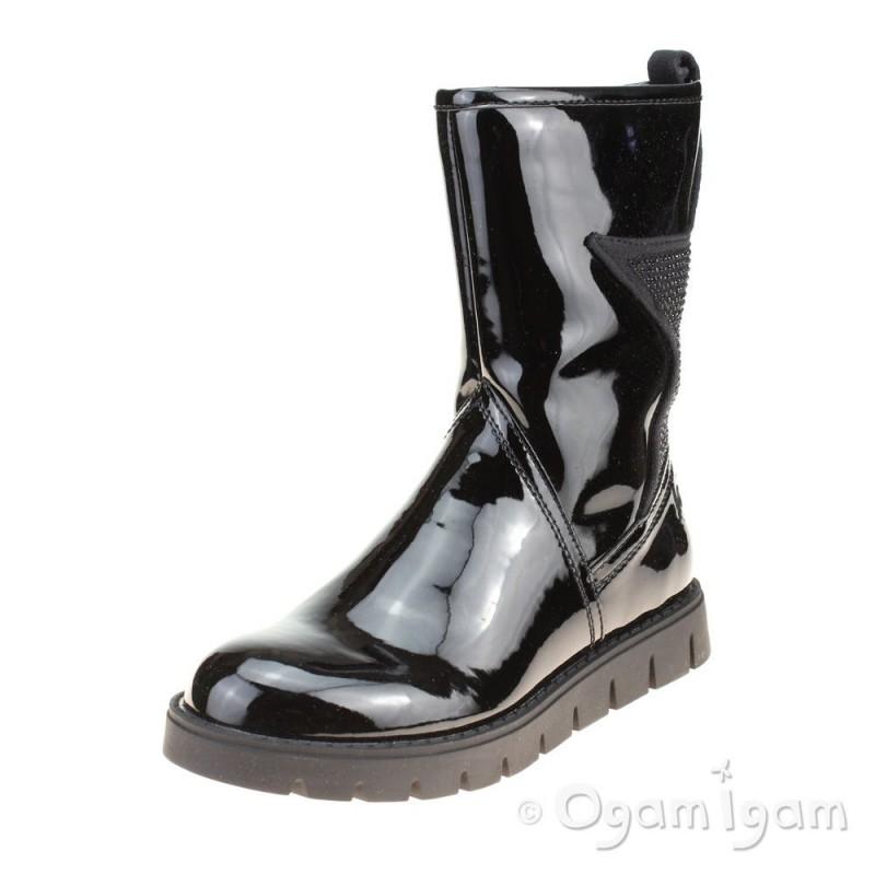 c407a64caadbe Lelli Kelly Jenny Girls Black Patent Boot | Ogam Igam