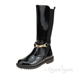 Lelli Kelly Diletta Alto Girls Black Patent Boot