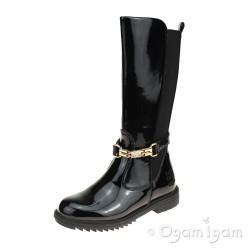 Lelli Kelly Diletta Alto Girls Black Patent Boot