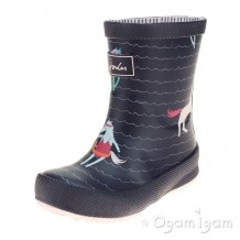 Joules French Navy Sea Pony Girls Navy Wellington Boot