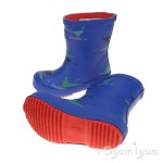 Joules Dino Paddle Boys Blue Welly Boot