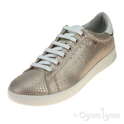 Geox Jaysen Womens Rose Gold Lace-up Shoe