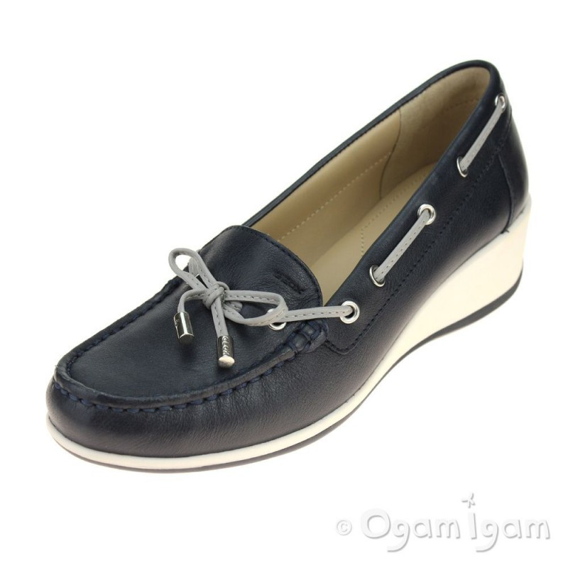 Geox Arethea Womens Navy Shoe Ogam Igam