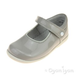 Start-rite Nancy Girls Grey Patent Shoe