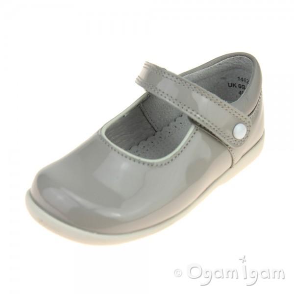 Start-rite Nancy Girls Grey Patent Shoe