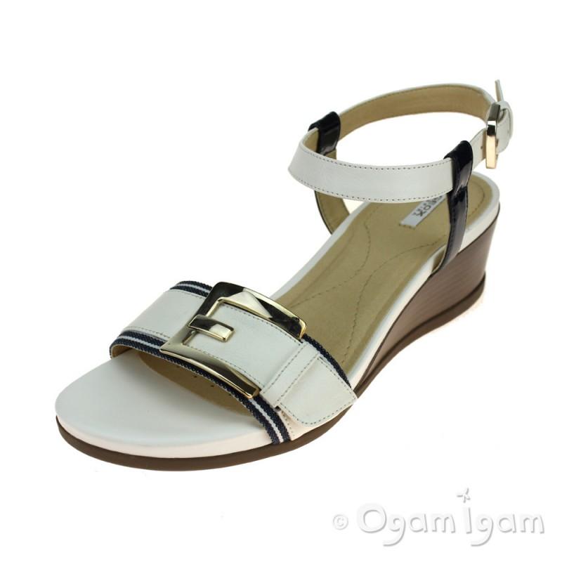Simple Geox Womenu0026#39;s Formosa Sandals In Blue | Lyst