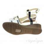 Geox MaryKarmen Womens White-Navy Sandal