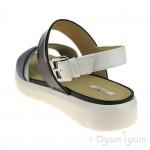 Geox Amalitha Womens Navy-White Sandal