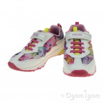 Geox Bernie Girls White-Multicolour Trainer