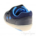 Clarks Tolby Boo Boys Navy Shoe