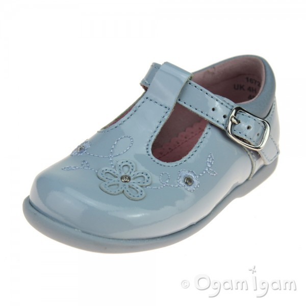 Start-rite Sunflower Girls Blue patent T-bar Shoe