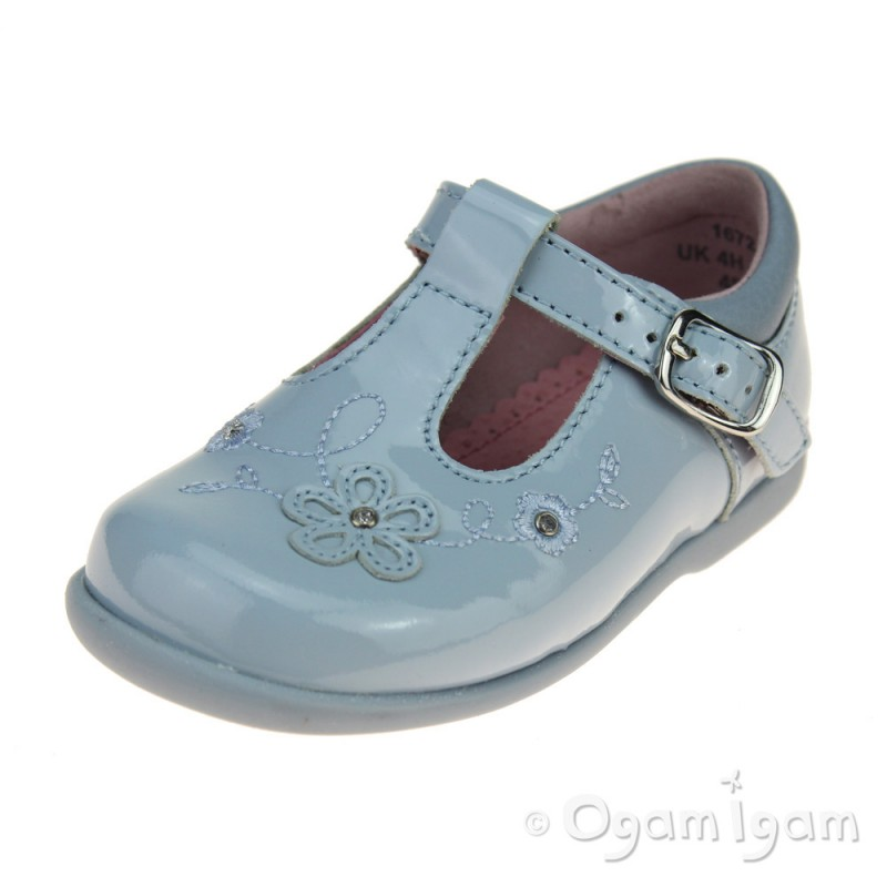 d16255c8024fc Start-rite Sunflower Girls Blue patent T-bar Shoe | Ogam Igam