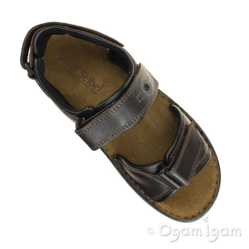 03c80a3a81ee ... Josef Seibel Rafe Mens Moro-Black Sandal
