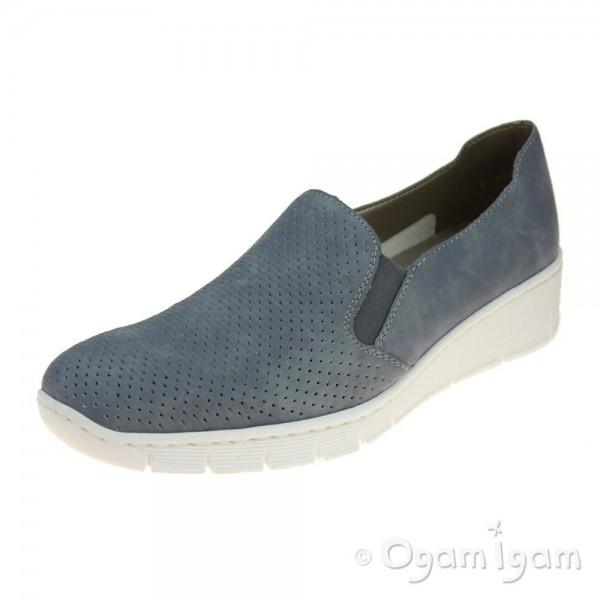 Rieker 537A512 Womens Blue Shoe