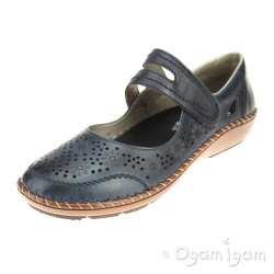 Rieker 4487514 Womens Blue Shoe