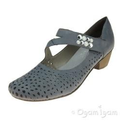Rieker 4176713 Womens Blue Shoe