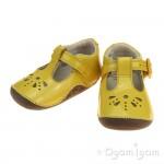 Clarks Little Weave Infant Girls Yellow Patent Shoe