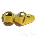 Clarks Little Weave Infant Girls Yellow Patent Shoe