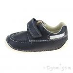 Clarks Tiny Cloud Infant Boys Navy Shoe