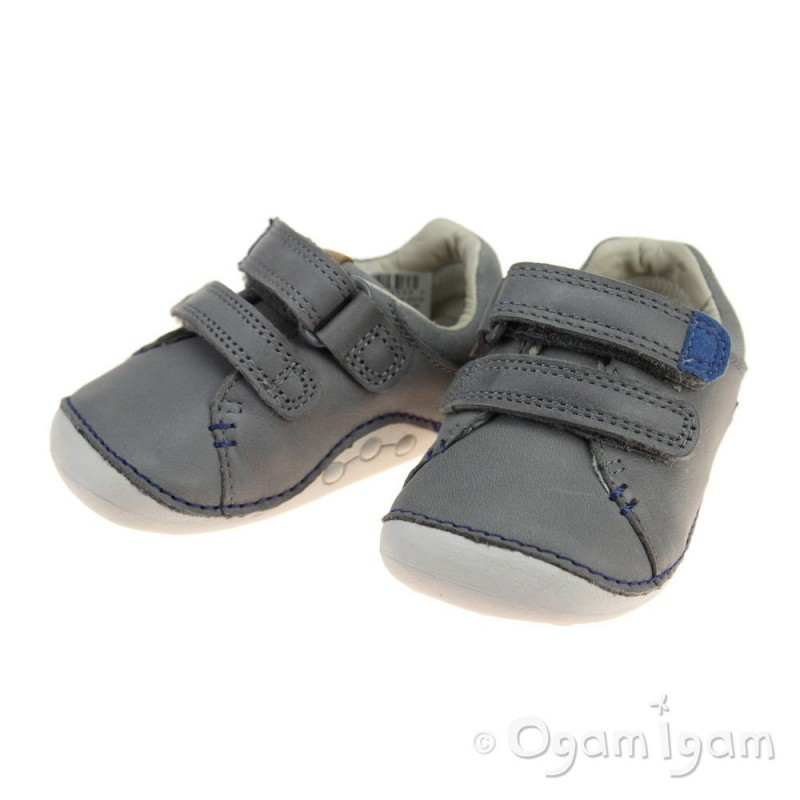 Grey   Infant Boys Clarks Shoes