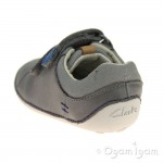 Clarks Tiny Toby Infant Boys Grey Shoe