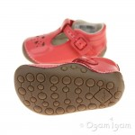 Clarks Little Weave Infant Girls Coral Patent Shoe