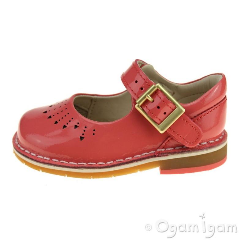 Girls Clarks Yarn Jump Patent Leather