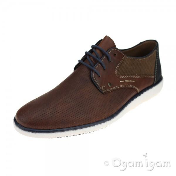 Rieker 1782425 Mens Brown Shoe