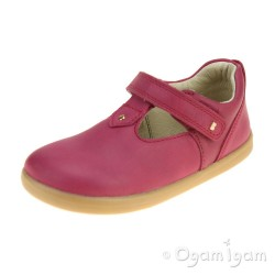 Bobux Louise Girls Dark Pink Shoe