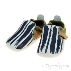 Bobux Xplorer Paint Infant Boys White Navy Shoe