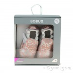 Bobux Xplorer Abstract Infant Girls Silver Pink Shoe