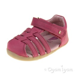 Bobux Jump Girls Dark Pink Sandal