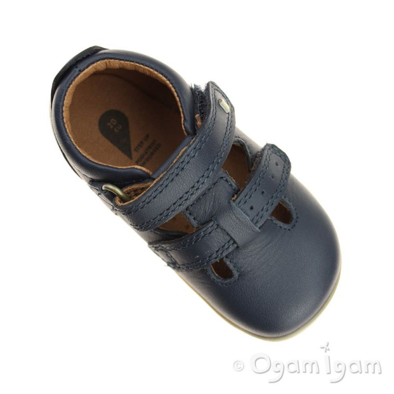 Bobux Step Up boy/'s Jack and Jill leather sandal with enclosed heel and toe