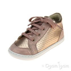 Shoo Pom Bouba Zip Box Infant Girls Copper-Powder Shoe