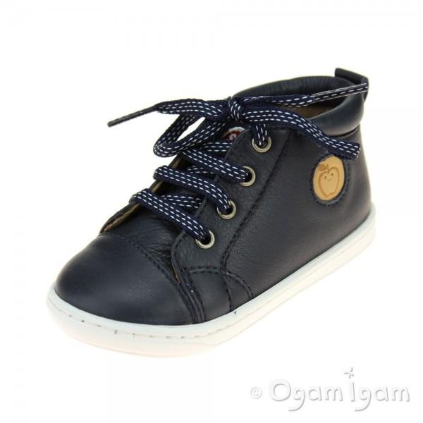 Shoo Pom Bouba Pad Lace Infant Boys Navy Shoe