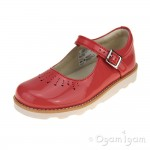 Clarks Crown Jump Girls Coral Patent Shoe