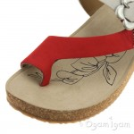 Josef Seibel Tonga 23 Womens Natur Red Sandal