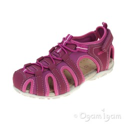 Geox Roxanne Girls Dark Fuchsia Closed Top Sandal