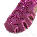 Geox Roxanne Girls Dark Fuchsia Sandal