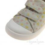 Clarks Halcy Hati Girls Cream Shoe
