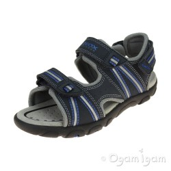 Geox Strada Boys Navy-Dark Royal Sandal